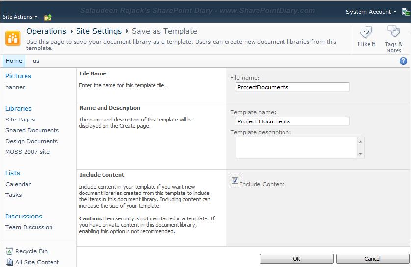 it site documentation template