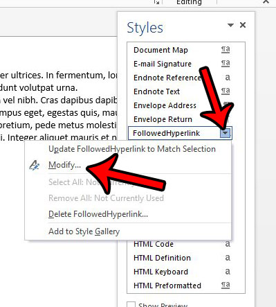 remove all hyperlinks in a word document