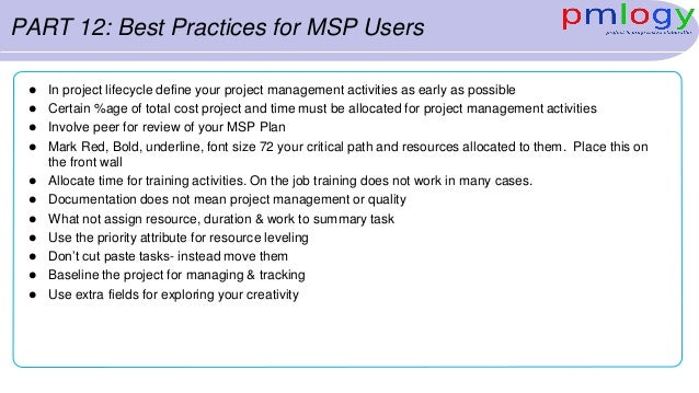msp programme definition document template