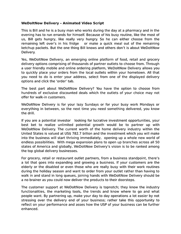 writign a great pitch document