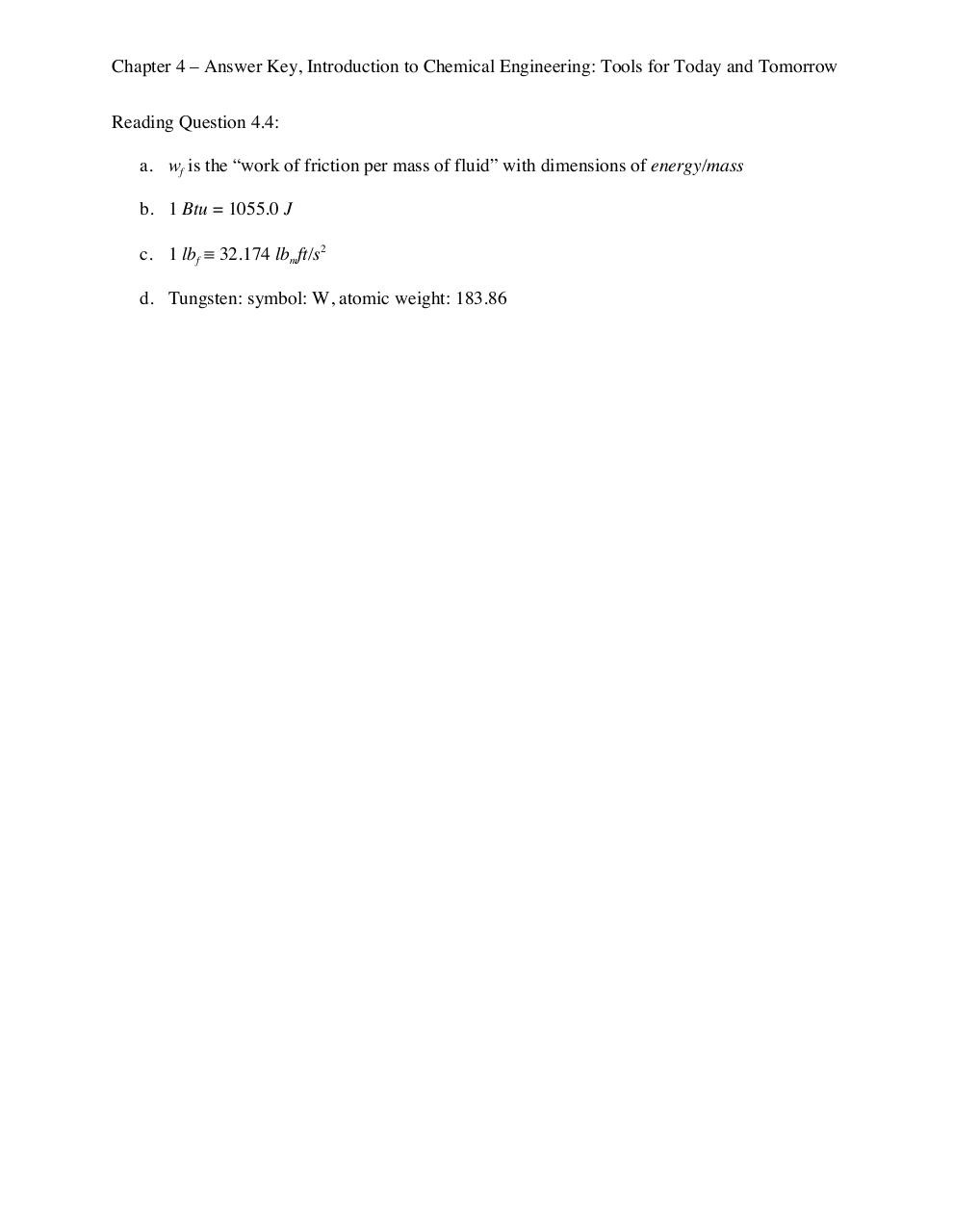 documentation related to chemicals