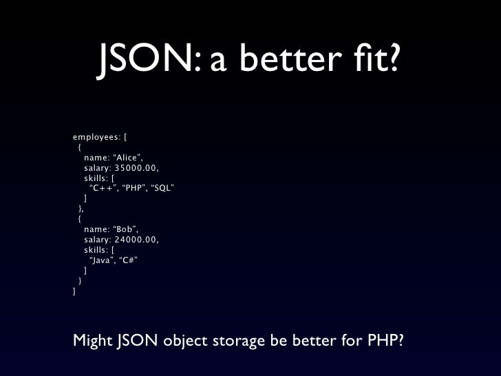store json document into database using java