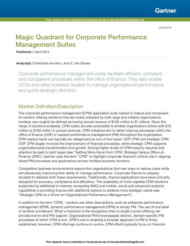 gartner magic quadrant document management