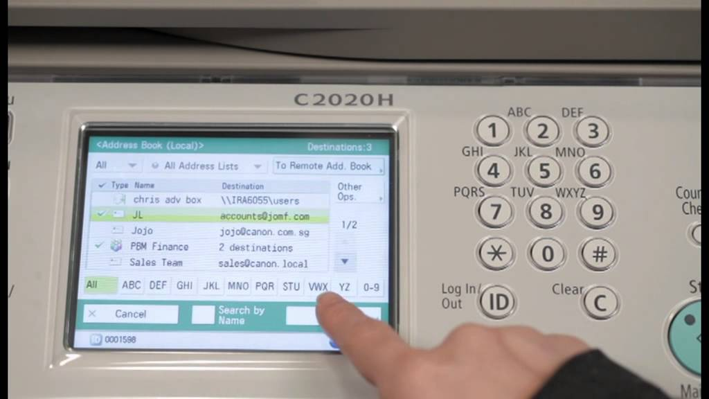 how to scan a document and email it
