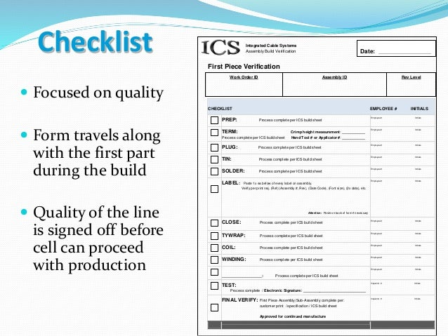 quality control document for dc cable assembly