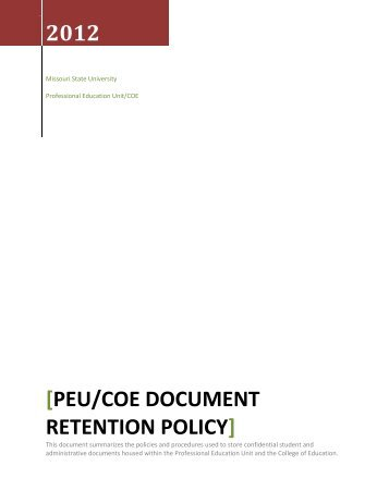 electronic document storage and retention policy