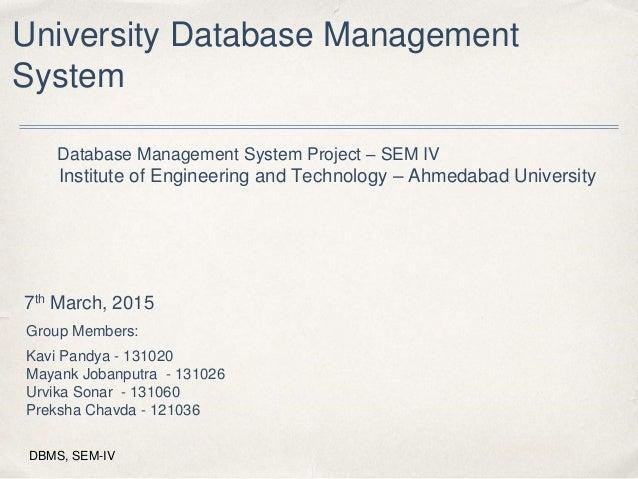university management system project documentation