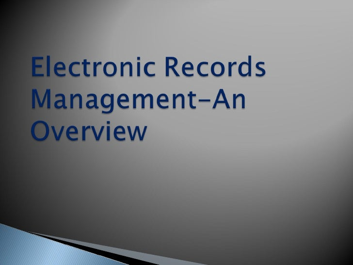 electronic document management system ppt