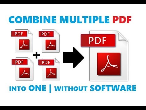 how combine pdf multi page into 1 document