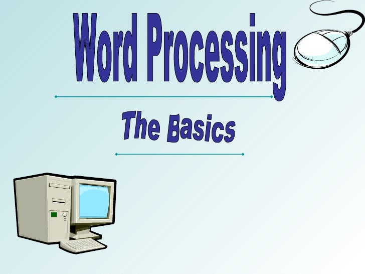 document and word processing software