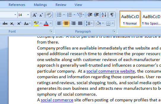 word 2007 change line spacing entire document