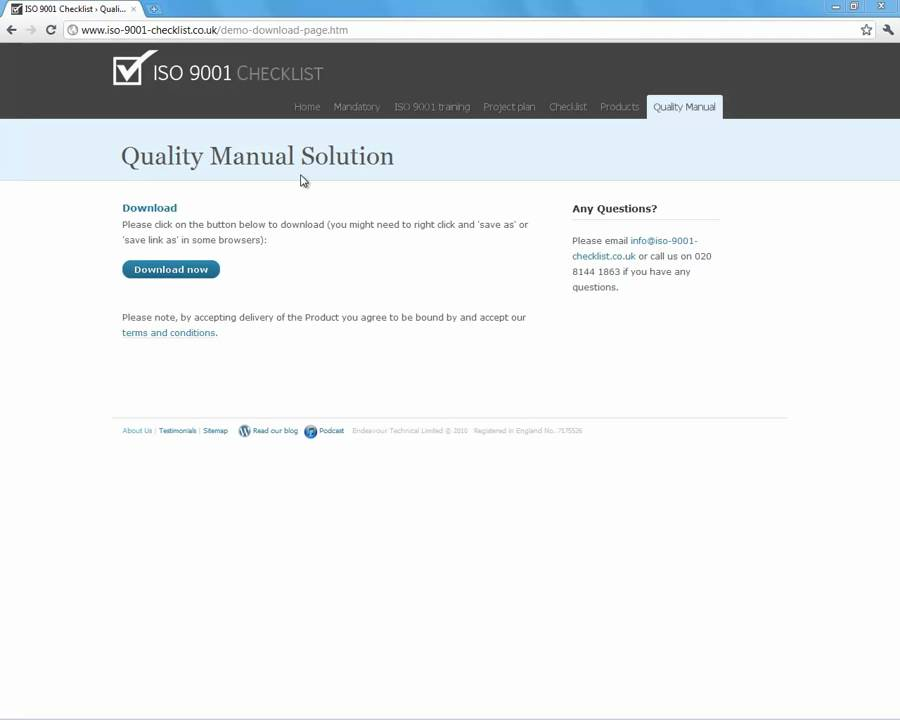 free iso 9001 documentation template