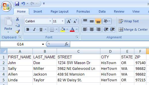 mail merge word and excel document