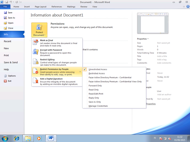 unlock password protected word document 2010