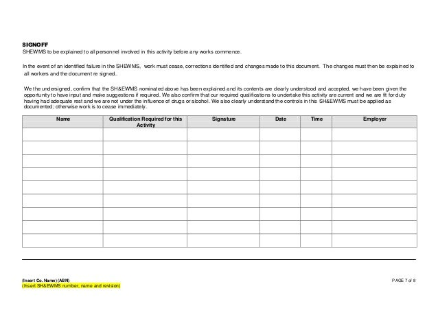 free method statement template word document