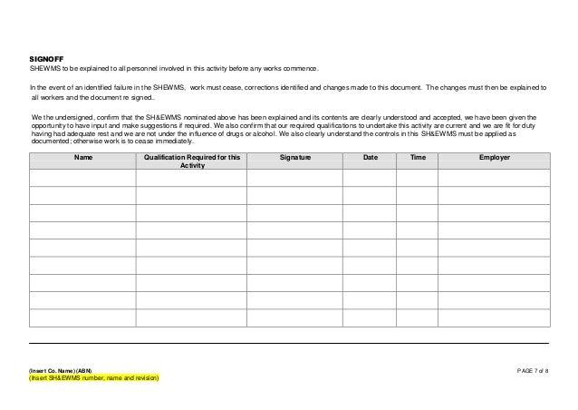 free method statement template word document