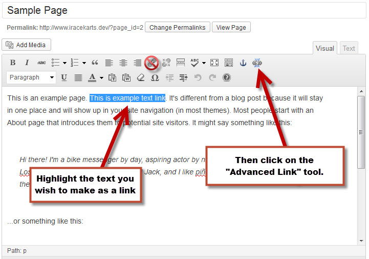 how to make a document a link