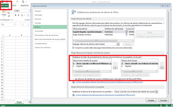 how to change language of document