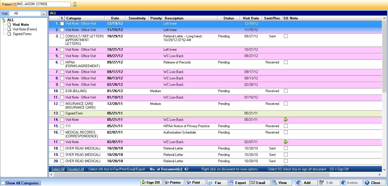 document management system features list