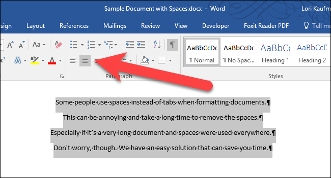 how to remove a line in word document