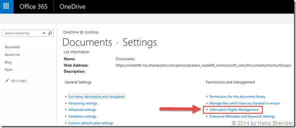 office 365 document library properties