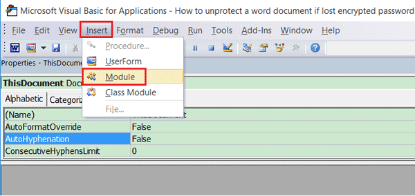 how to open password protected word document with password