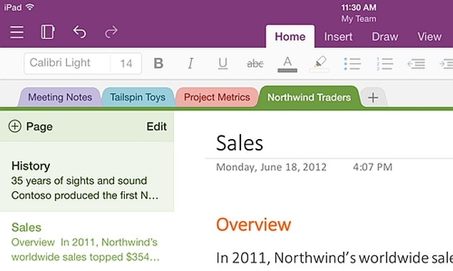 can i link a word document to onenote