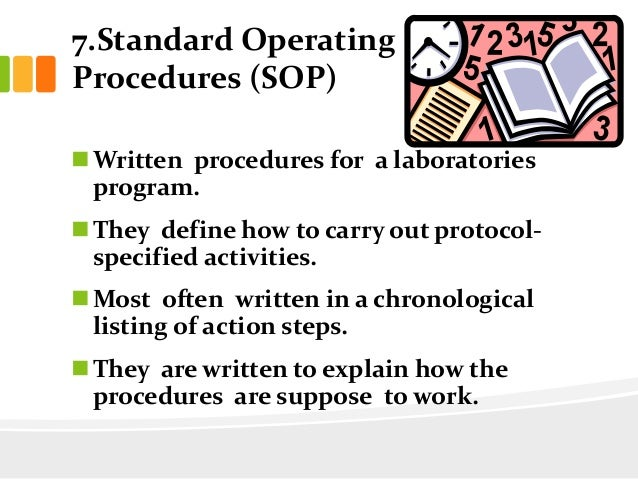 standard operating procedure for good documentation practices