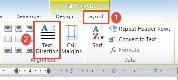 word document table landscape to portrait
