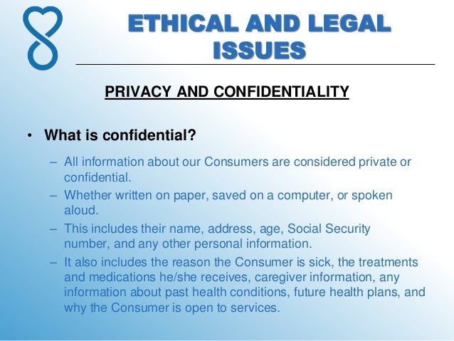 why confidentiality must consider for documentation