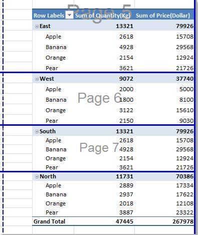 open office document insert page breaks