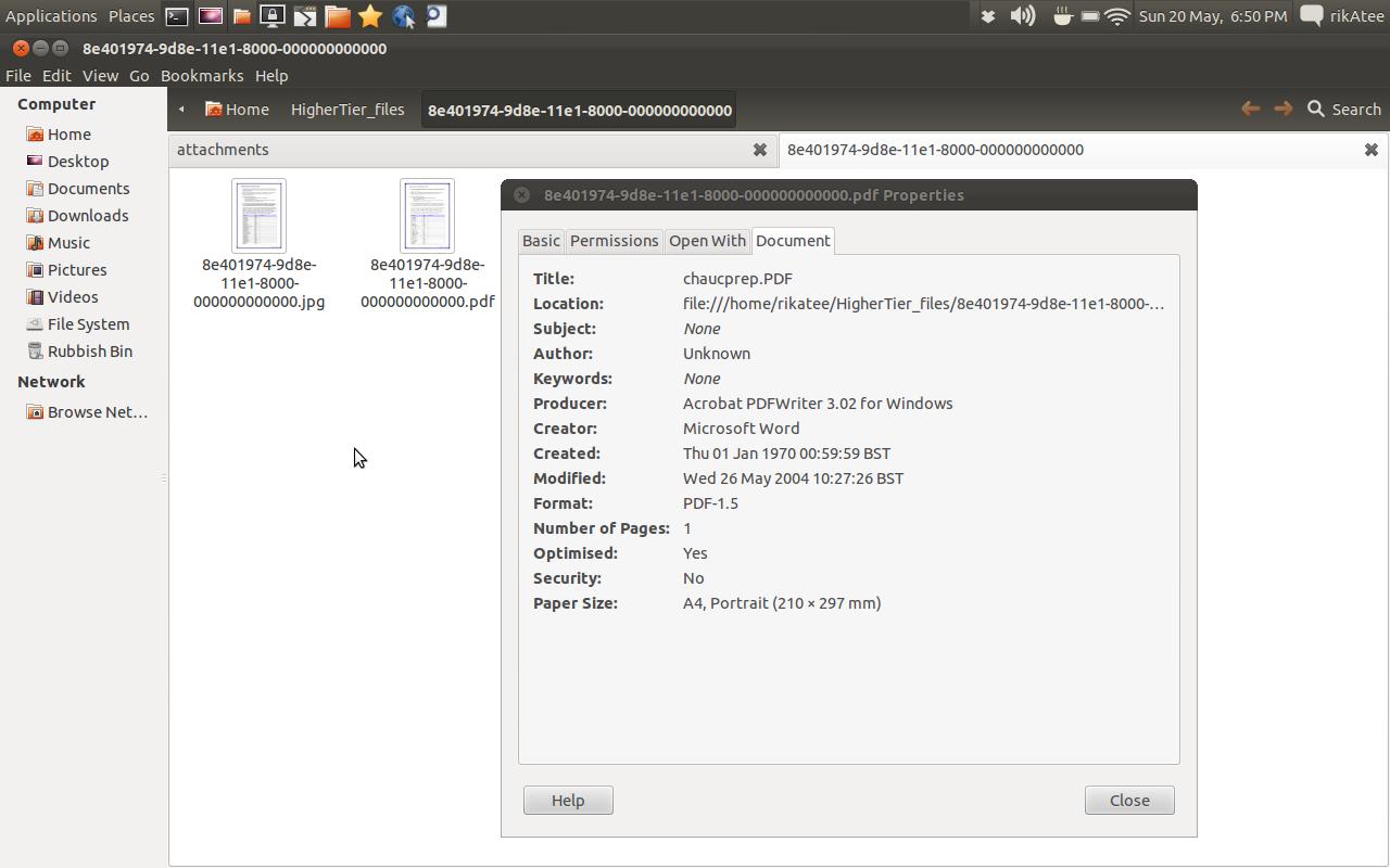 4d command get document properties