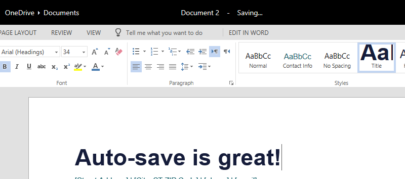 autosave document location word 2017
