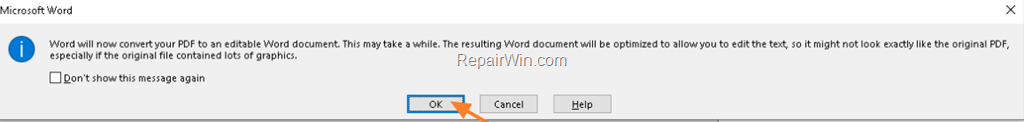 free program to convert pdf file to word document