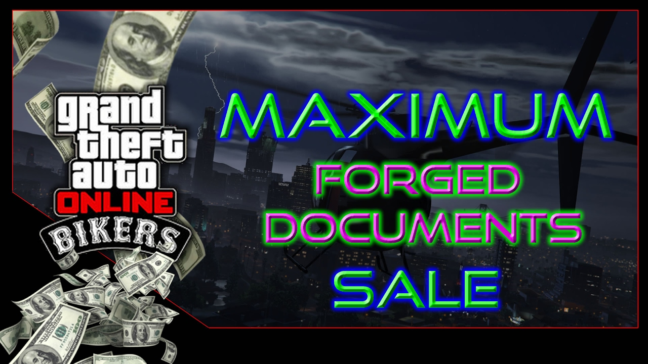gta 5 document forgery business