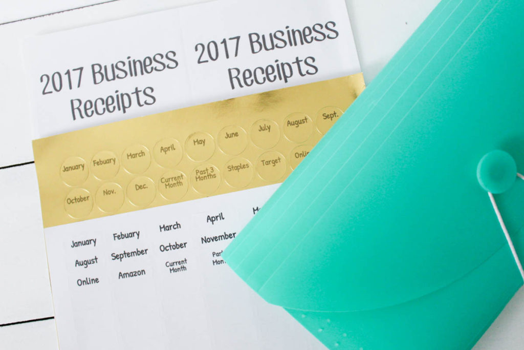 receipt documentation for irs