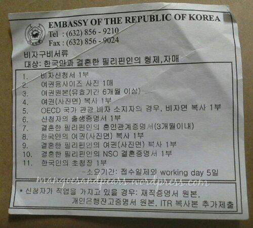 document checklist for a temporary resident visa