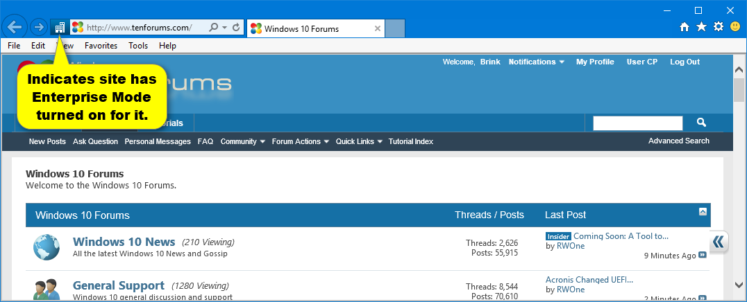 internet explorer 11 document mode