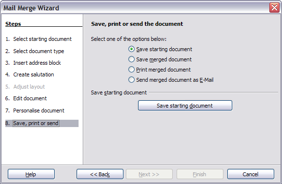 how to save a mail merge document