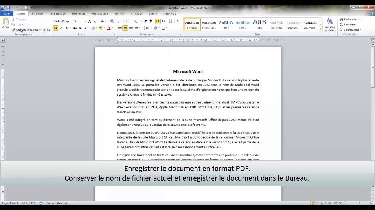 how to pdf a word document 2010