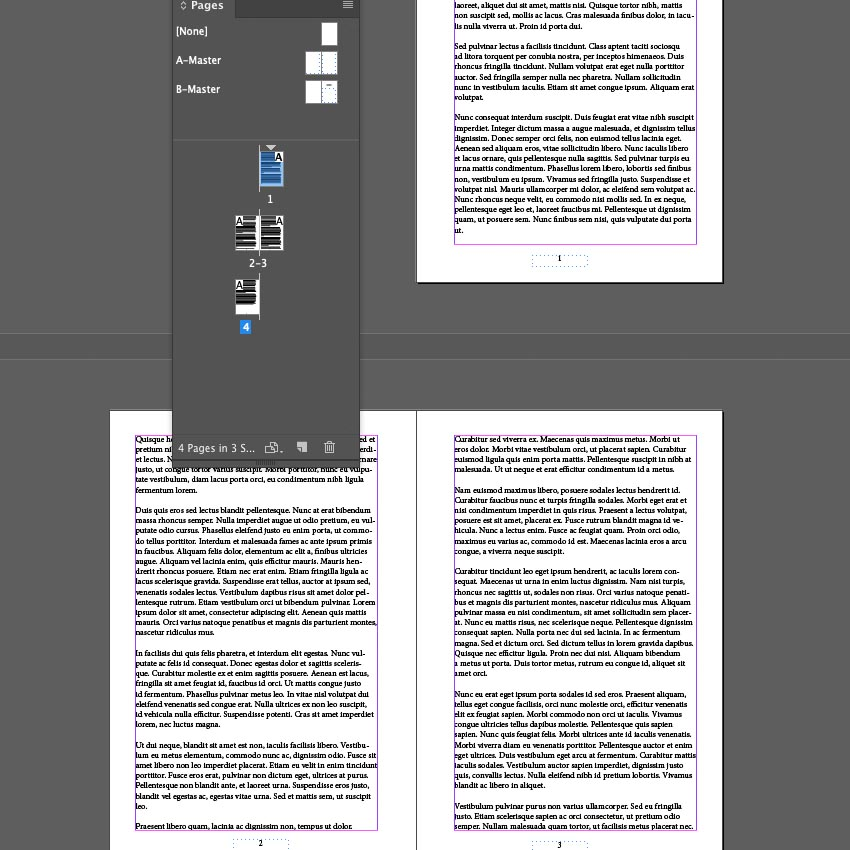 adding page numbers to indesign document
