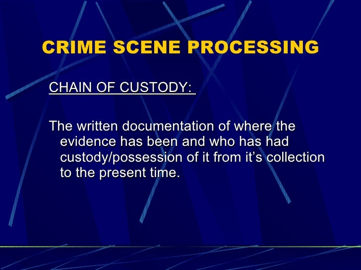 crime scene documentation definition