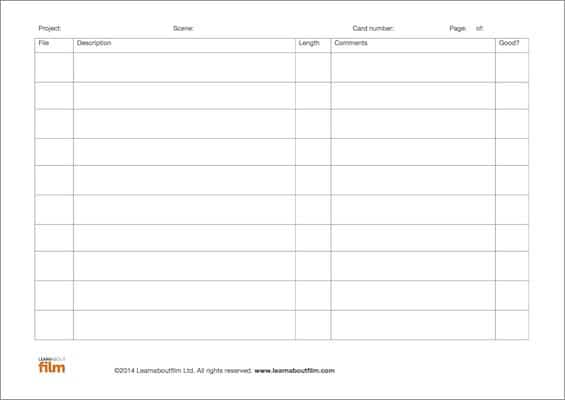 food diary template word document
