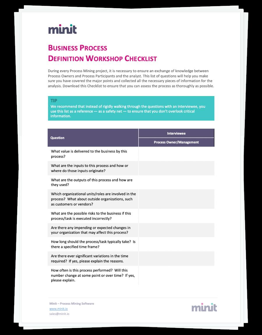 free workshop process documentation
