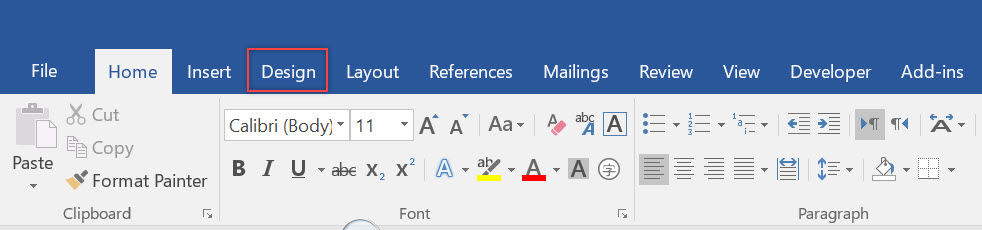 why are there boxes in my word document tabs