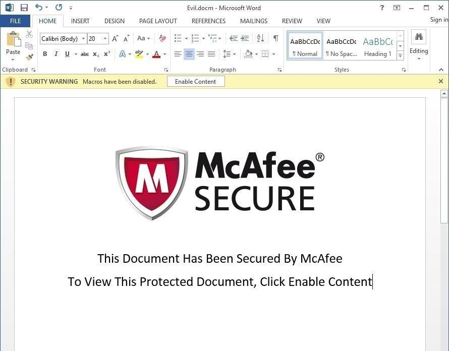 how to secure a word document