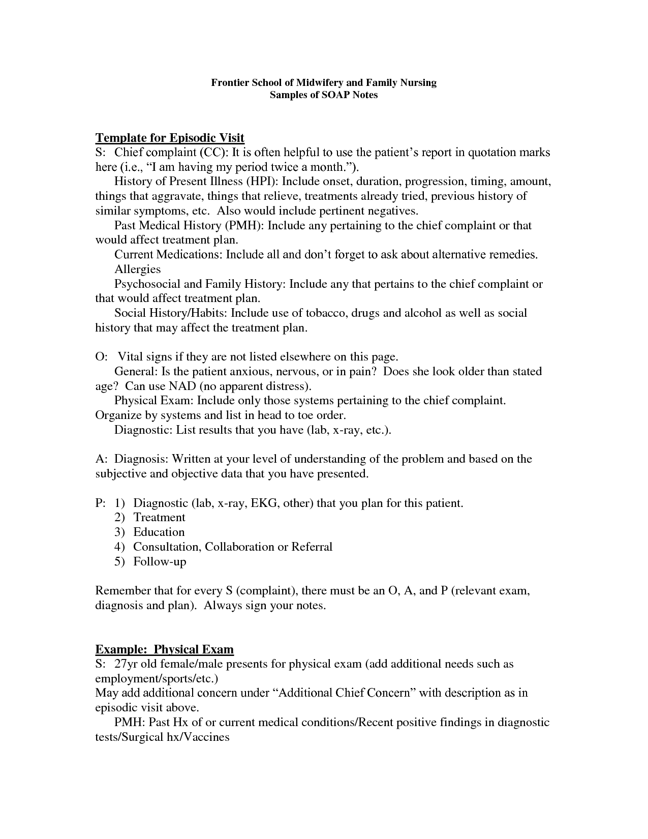 abdominal assessment nursing documentation