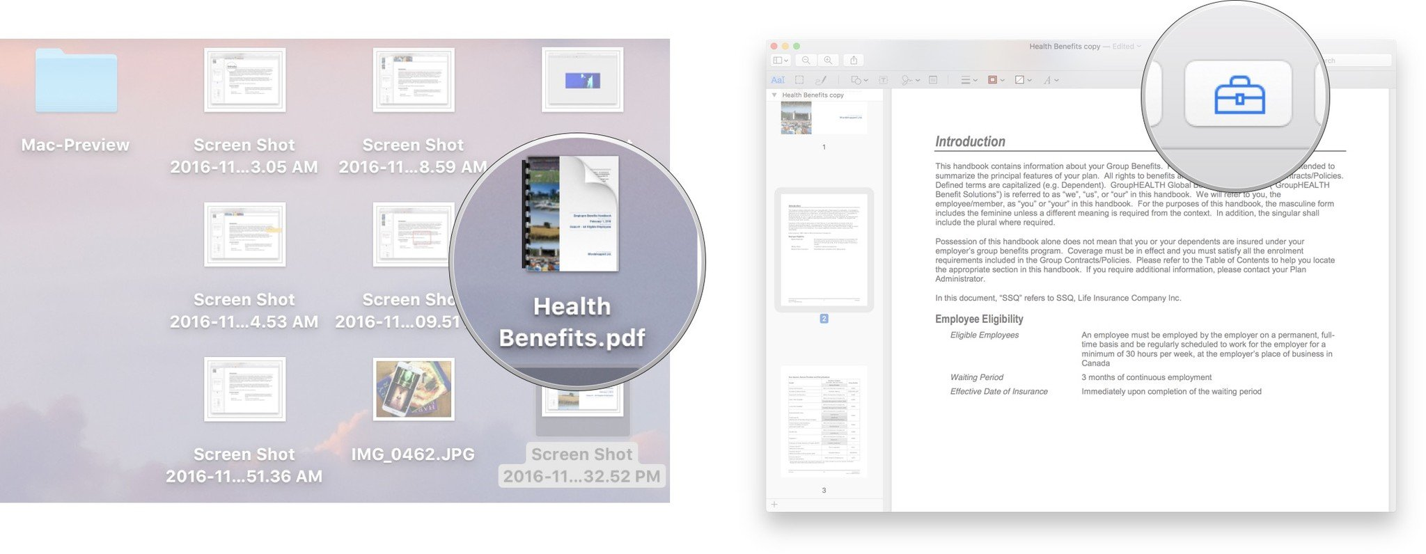how to sign a document on mac