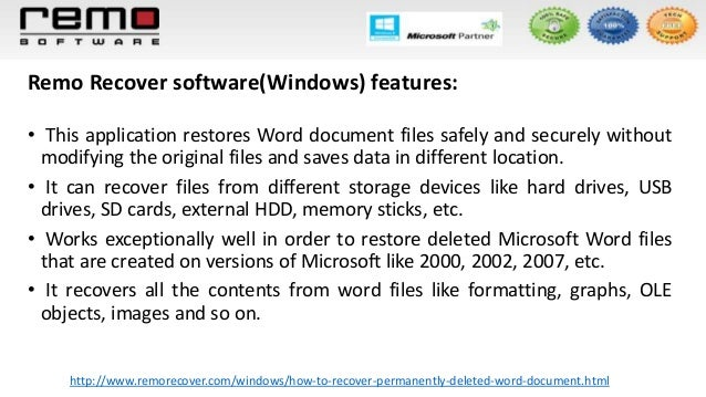 how to recover word document