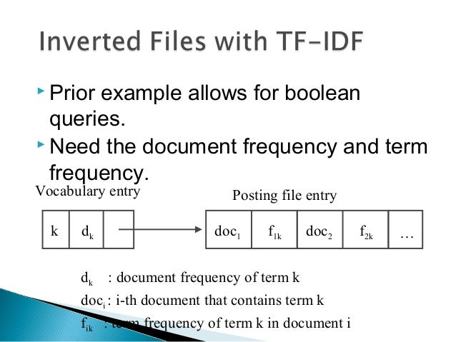 advantages of inverted document frequency